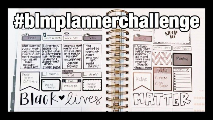 PLAN WITH ME | BLACK LIVES MATTER PLANNER CHALLENGE
