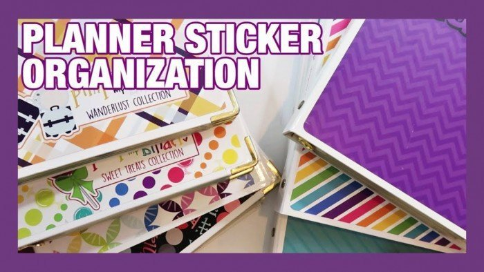 STICKER ORGANIZATION | PACKING STICKERS FOR SUMMER TRIP