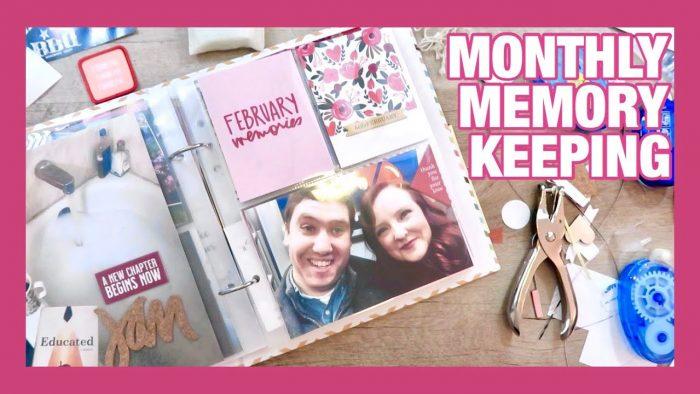 MEMORY KEEPING | ALI EDWARDS MONTHLY KIT | FEBRUARY 2020